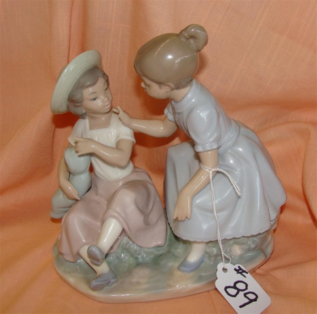 Lladro Nao Figurine: It's My Doll. 2 Little G
