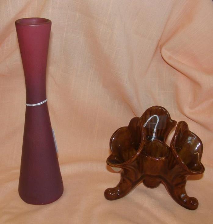 Van Briggle Art Pottery: Bud Vase & Plant Hol