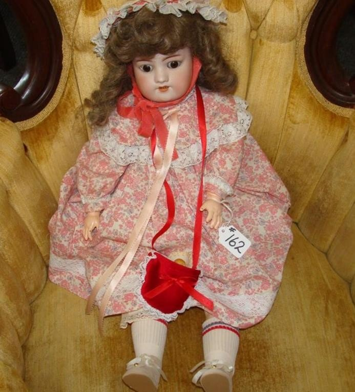 "19th Century 22"" Halbig Bisque Head Doll; #57"