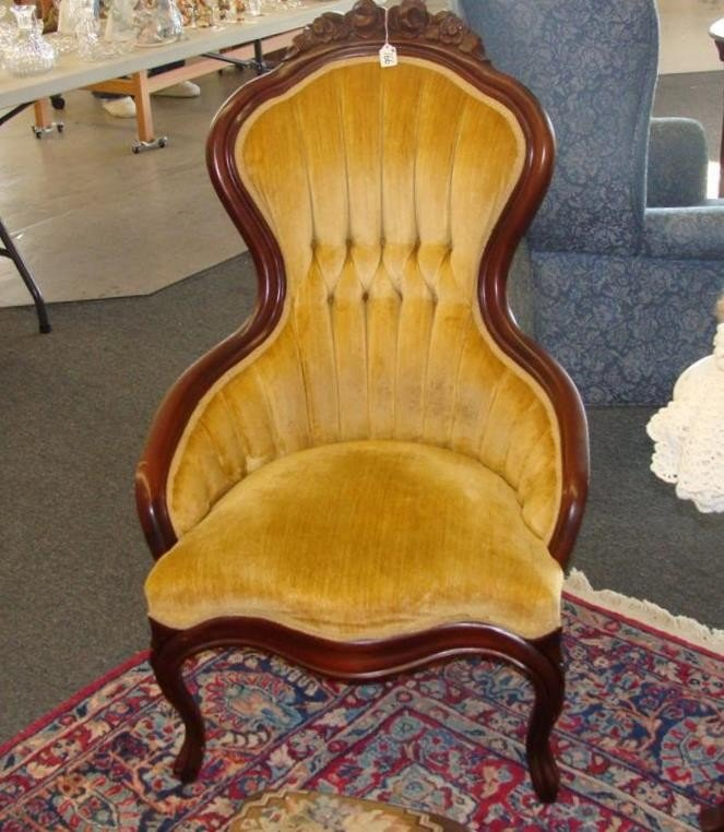 Victorian Style Ladies Mahogany Parlor Chair