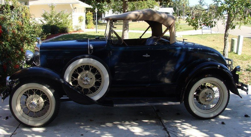 1931 Ford Model A Deluxe Roadster Antique Car