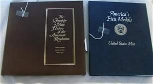 129: 2 Sets of Franklin Mint American Revolution Medals