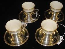 391 Lenox China  Sterling Silver Demitasse Cups Holde