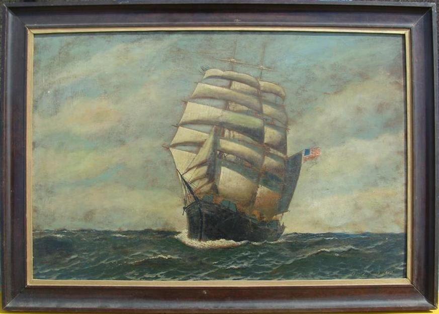 411A: Oil Painting by Listed Artist Antonio Jacobsen