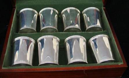 Set of 8 Sterling Silver Mark Scearce Mint Julep Cups