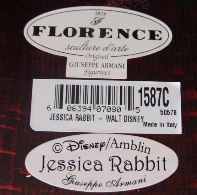 Giuseppe Armani Figurine: Jessica Rabbit #1587C Ltd Ed - 8