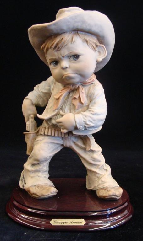 Giuseppe Armani Figurine: Cowboy #657T. Ltd Ed #407/100
