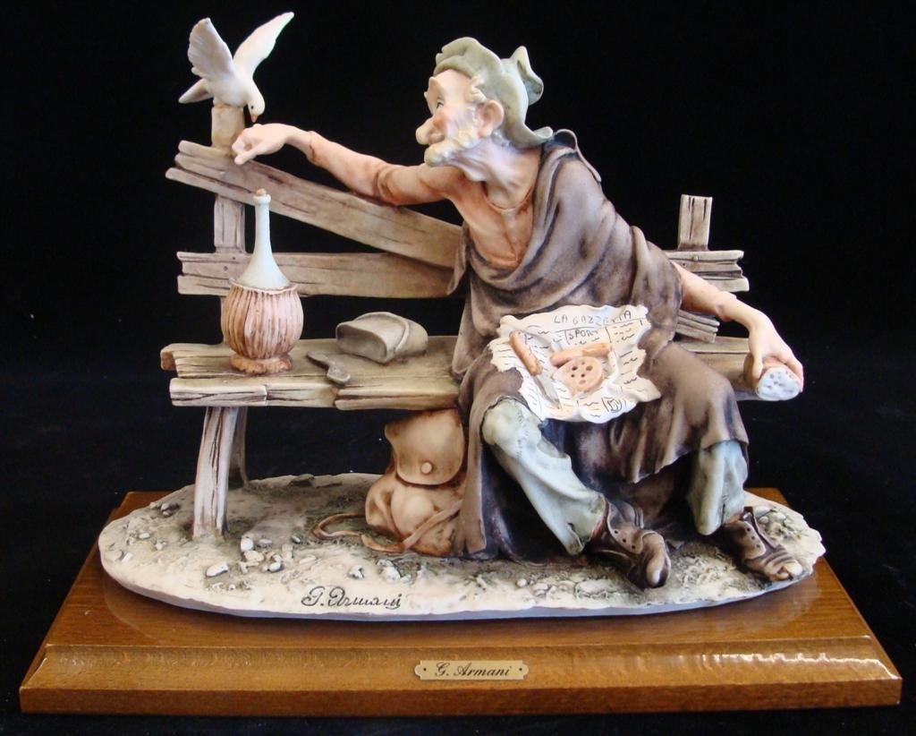 Giuseppe Armani Figurine: Old Man & a Bird #3218C. Olde