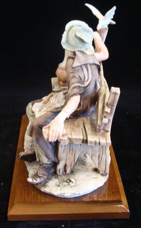 Giuseppe Armani Figurine: Old Man & a Bird #3218C. Olde - 2