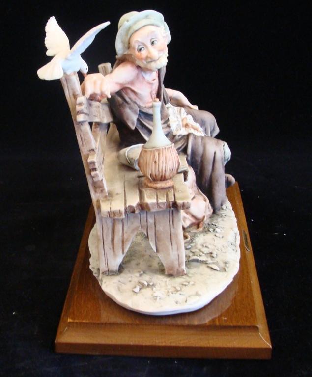 Giuseppe Armani Figurine: Old Man & a Bird #3218C. Olde - 4