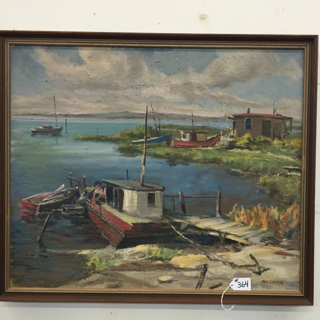 Oil on Artist Board Painting by Listed Artist, Newman.