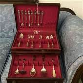Silver Dinner Service for 8 by 1847 Rogers Bros 62pcs