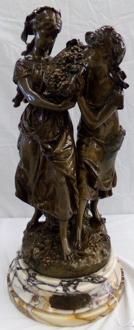"""Bronze Statue """"Les Vendanges"""""""
