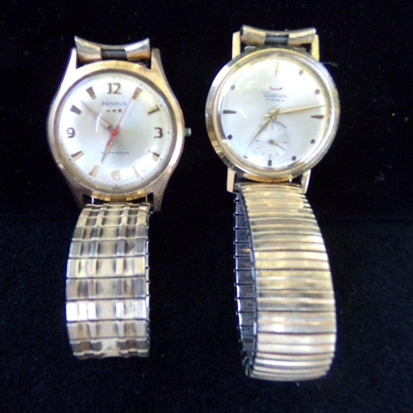 2 Vintage Watches: Benrus & Waltham