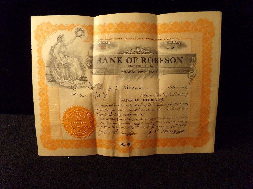 Antique Stock Certificates – Kinkaid Veneer