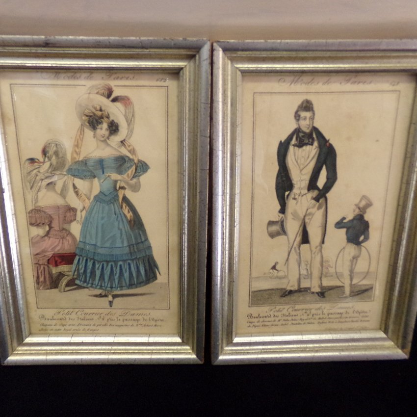 "2 ""Modes de Paris"" French Fashion Plate Prints"