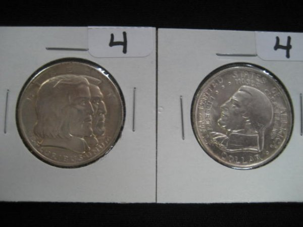 1004: Two U.S. commemorative half dollars: 1936 Great L