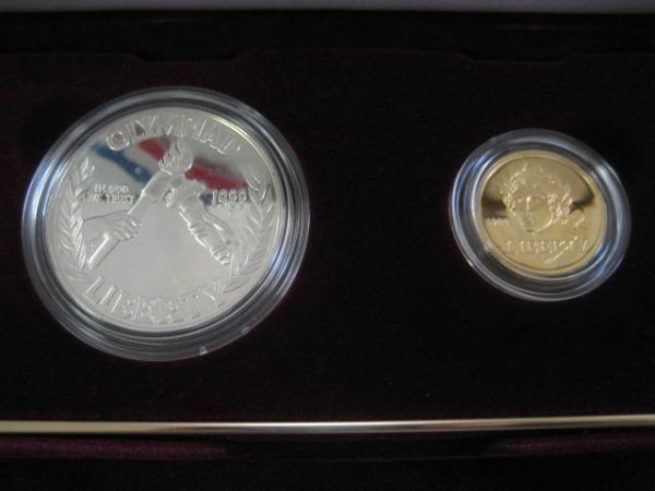 1014: U.S. 1988 Olympic coins proof set including silve