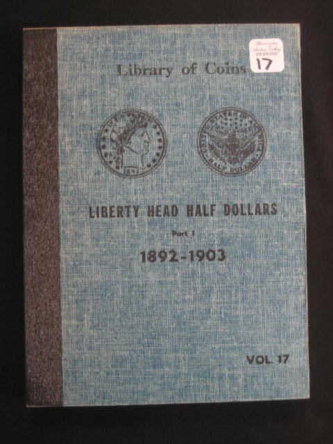 "1017:  Library of coins book ""Liberty Head Half Dollar"