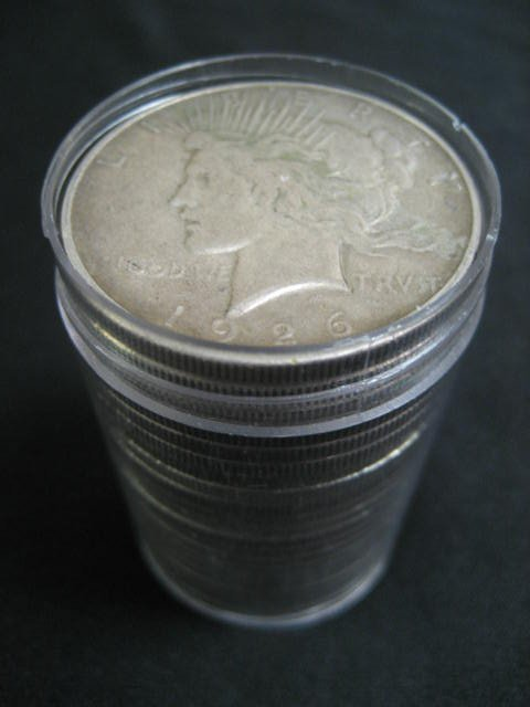 1023: Twenty-one U.S. Liberty Head silver dollars: elev