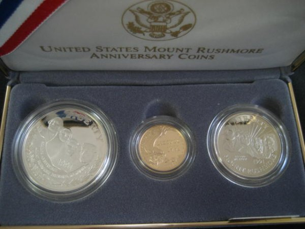 1024: U.S. 1991 Mount Rushmore anniversary proof set in