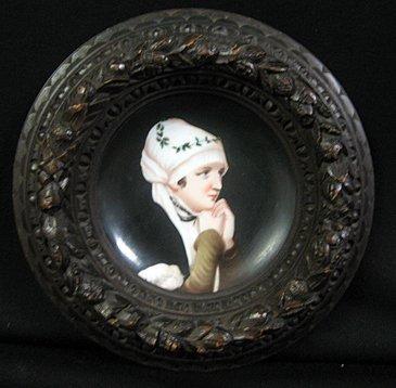 2009: Antique Victorian Hand Painted Porcelain Plaque