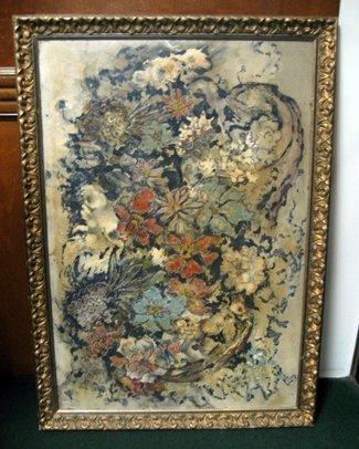 2014: Framed Oil on Board, Early Modernist Still Life