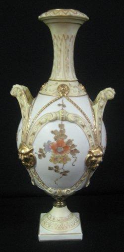 2022: Royal Rudolstadt Dbl. Handled Porcelain Vase/Urn