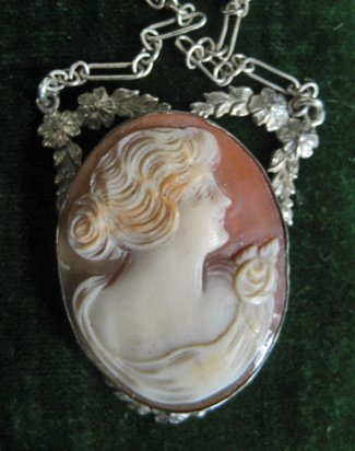 2023: Victorian Cameo pendant on sterling silver chain.