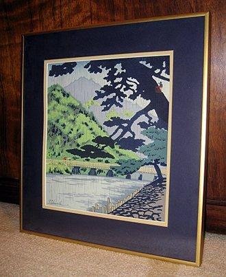 2004: Framed Japanes woodblock print by T. Tokuriki