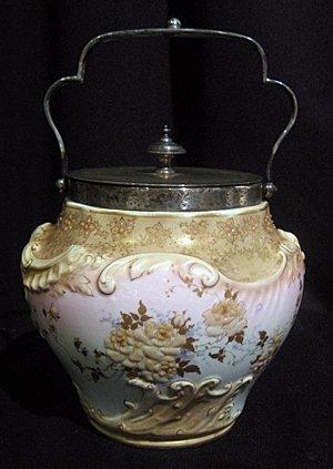 Doulton Burslem Lidded Porcelain Biscuit Jar
