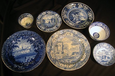 Historical Blue & White Ironstone Pieces