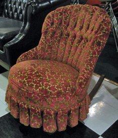 Victorian Velvet Slipper Rocking Chair