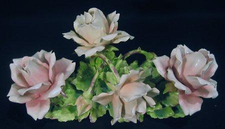 4 Modern Porcelain Flower Groups - England, Italy, etc