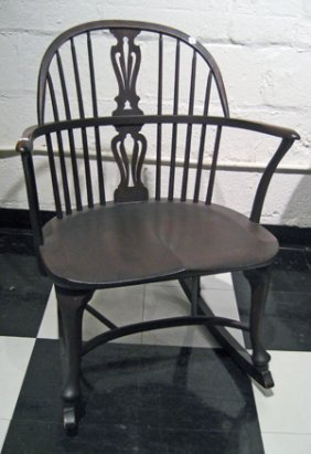 Karpen Bros Mahogany Windsor Style Rocking Chair