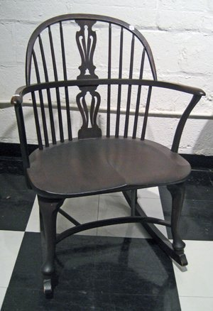 Bros Mahogany Windsor Style Rocking Chair