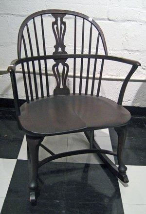 Karpen Bros. Mahogany Windsor Style Rocking Chair