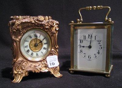 2 Carriage Clocks - Cowell & Hubbard Co.