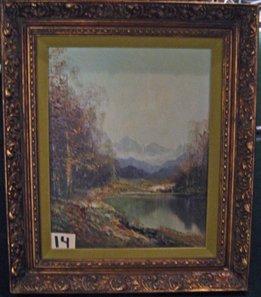 Framed Oil on Canvas after Kort