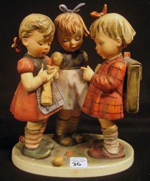 """Goebel Hummel Figurine, """"School Girls"""" # 177/I - Mark 4"""