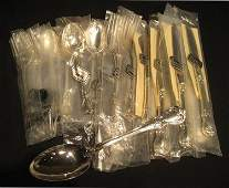 """19 pc *NIB*Towle """"Old Masters"""" Sterling Silver Flatware"""