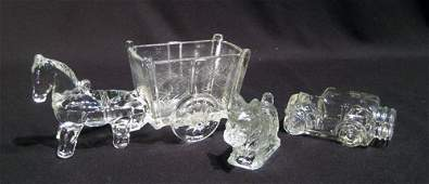 9 Clear Glass Candy Containers