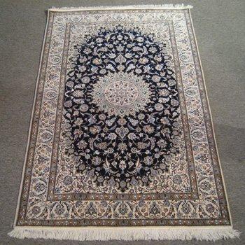 Fine Persian Silk & Wool Nain
