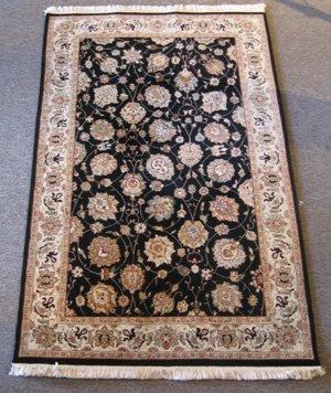 Fine Persian Silk & Wool Pile Tabriz Design Rug