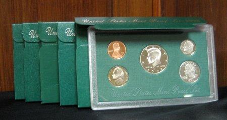 5 U.S. Mint Coin Proof Sets