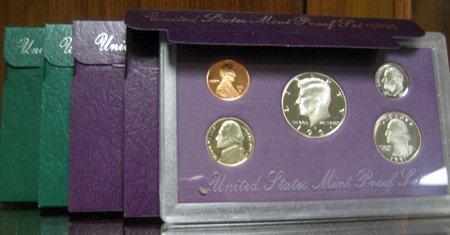 4 U.S. Mint Coin Proof Sets
