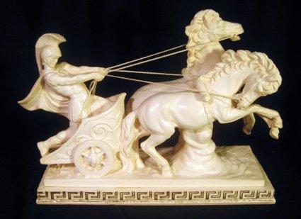 "A. Santini Sculpture ""Medium Roman Chariot"", Itlay"