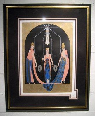 "Framed Erte serigraph, ""The Three Graces"""