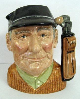 """Royal Doulton character jug, """"Golfer"""", RD # 12386"""