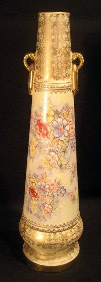 Unmarked Royal Bonn porcelain two-handled vase